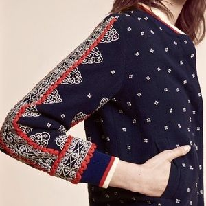 Conditions Apply Embroidered Bomber Jacket